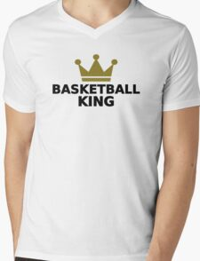 Basketball King crown Mens V-Neck T-Shirt