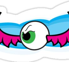 Angry Flying Eye - Pink Sticker