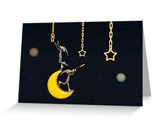 The Moon Dwellers - Whimsical Art Greeting Card