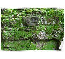 Mayan ruin detail Poster