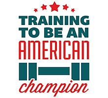 Training to be an American Champion Photographic Print