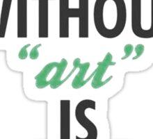 Art - Let's Begin Sticker