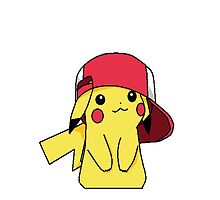 pikachu and ash's hat by dervmcd