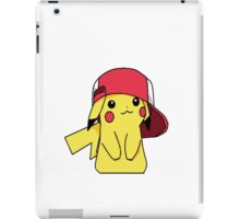 pikachu and ash's hat iPad Case/Skin