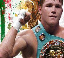 Saul Canelo Alvarez Boxing Mexico flag Sticker