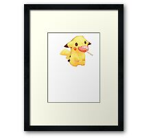 pikachu and lolly Framed Print