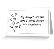 TFIOS quote card Greeting Card
