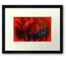 Enchanting Ball Of Feathers Framed Print