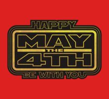 Happy May the 4th! (Yellow) One Piece - Short Sleeve