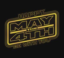 Happy May the 4th! (Yellow-Slanted) T-Shirt