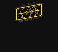 Happy May the 4th! (Yellow-Slanted) Womens Fitted T-Shirt