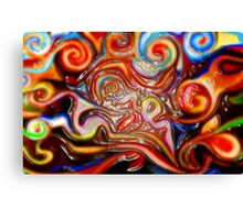 abstract painting  brown water bottles posters bags thermos shower curtain phone ipad cases  Canvas Print