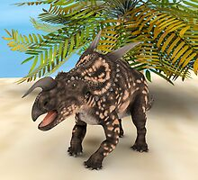 Dinosaur Einiosaurus by Vac1