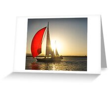 Red Sail Greeting Card
