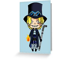 Sabo chibi Greeting Card