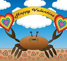 Happy Valentine Crab  by shoppy76