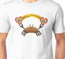 Happy Valentine Crab  Unisex T-Shirt