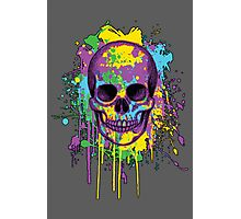 Graphic Splatter Skull Photographic Print