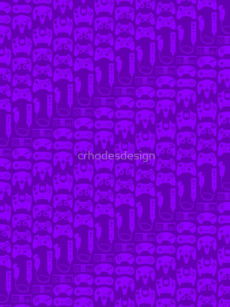 Video Game Controllers - Purple by crhodesdesign