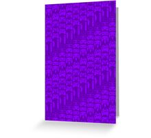 Video Game Controllers - Purple Greeting Card