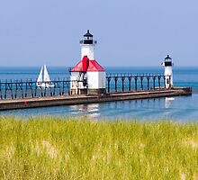 St. Joseph, Michigan Lighthouses by Kenneth Keifer