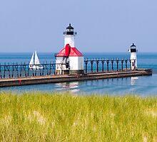 St. Joseph, Michigan Lighthouses by Kenneth Keifer