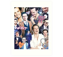 andrew scott collage Art Print