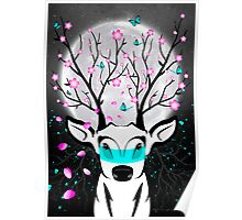 Roots To Grow and Wings To Fly (Cherry Blossom Deer) Poster
