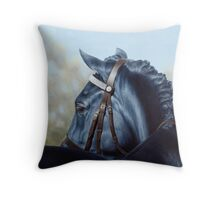 Welsh Cob - Horse Portrait Throw Pillow