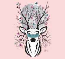 Roots To Grow and Wings To Fly (Cherry Blossom Deer) Kids Clothes