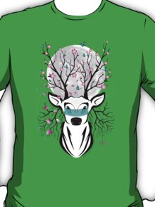 Roots To Grow and Wings To Fly (Cherry Blossom Deer) T-Shirt