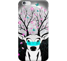 Roots To Grow and Wings To Fly (Cherry Blossom Deer) iPhone Case/Skin