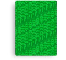Video Game Controllers - Green Canvas Print