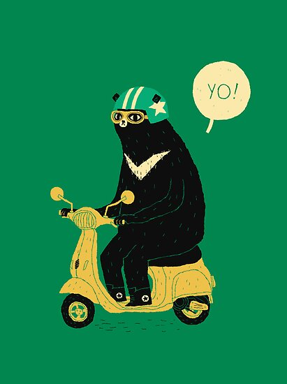 scooter bear by louros