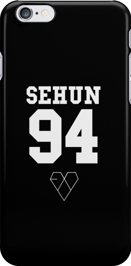 EXO JERSEY (SEHUN) PHONE CASE by dakotaspine