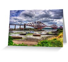 Low Tide in North Queensferry Greeting Card