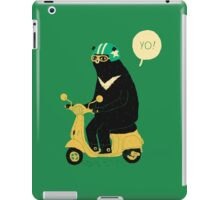scooter bear iPad Case/Skin