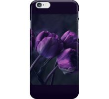 Dark Purple Tulips iPhone Case/Skin