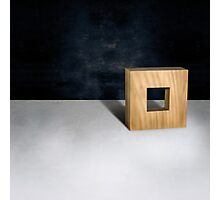 Wood Square 3d Natural Photographic Print