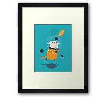 space dog Framed Print