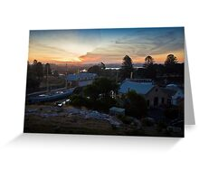 Sunset over Flagstaff Hill Greeting Card