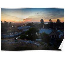 Sunset over Flagstaff Hill Poster