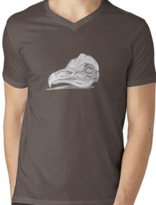 Barn Owl Skull Mens V-Neck T-Shirt