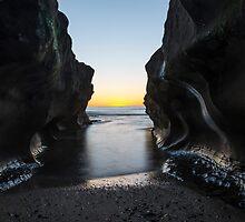 Windansea Beach Sunset by liminalstate