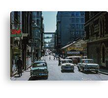 Little Bourke Street 1963 Canvas Print