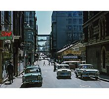 Little Bourke Street 1963 Photographic Print