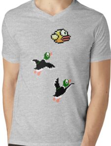 Flappy Hunt Mens V-Neck T-Shirt