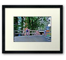 Skating dizziness Framed Print