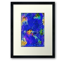 Deeper blue by you Framed Print