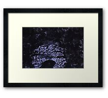 Liquid mirror of puddles (dedicated Victor Tsoy)(abstract expressionism) Framed Print